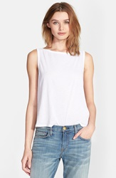 Enza Costa Scoop Back Tissue Jersey Tank White