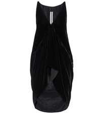 Rick Owens Velvet Sleeveless Top Black