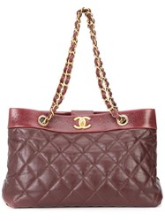 Chanel Vintage 'Soft Elegance' Tote Red