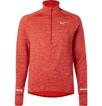 Nike Running Sphere Element Dri Fit Half Zip Top Burgundy
