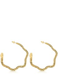 Aurelie Bidermann Tao Creoles Serpent Earrings Gold