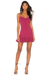 1.State Spaghetti Strap Ruffle Hem Dress Wine
