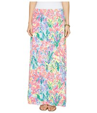 Lilly Pulitzer Nola Beach Maxi Skirt Multi Fan Sea Pants Women's Skirt