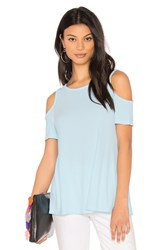 Michael Stars Cold Shoulder Tee Baby Blue