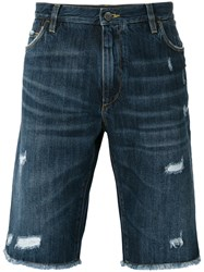 Dolce And Gabbana Distressed Denim Short Blue