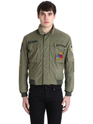 As65 Vintage Military Gabardine Bomber Jacket