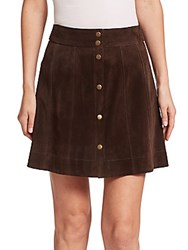 Frame Suede Mini Skirt Dark Brown