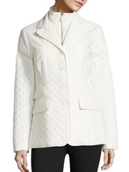 Jane Post Quilted Riding Jacket White Blue