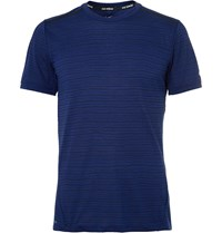 Nike Running Tailwind Perforated Dri Fit T Shirt Blue
