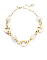 Kate Spade Second Nature Large Faux Pearl Necklace Cream