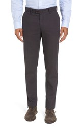 Brax Men's Big And Tall Texture Stretch Cotton Trousers Grey