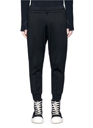 The Viridi Anne Fleece Lined Cotton Jogging Pants Black