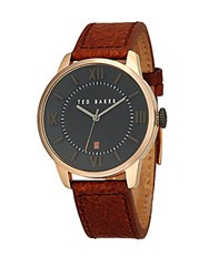 Dolce And Gabbana Stainless Steel Leather Strap Analog Watch Brown