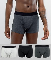 Burton Menswear Trunks In Grey 3 Pack