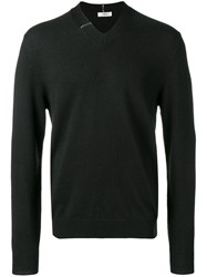 Mauro Grifoni V Neck Detail Sweater Black
