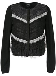 Giambattista Valli Lace Insert Cardigan Black