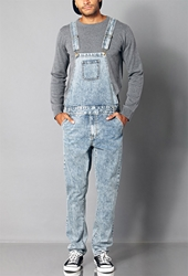 Forever 21 Classic Denim Overalls Denim Washed