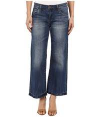 Kut From The Kloth Culottes Five Pocket Yokes In Pretty W Medium Base Wash Pretty Medium Base Wash Women's Jeans Blue