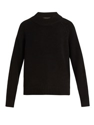 The Row Sephin Cashmere Knit Sweater Black