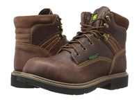 John Deere Waterproof 6 Lace Up Soft Toe Toasted Wheat Men's Boots Tan