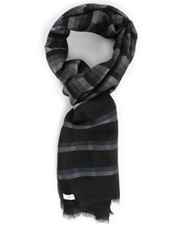 Billtornade Black And Checked Franck Scarf