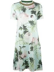 Antonio Marras Floral Print Dress Green