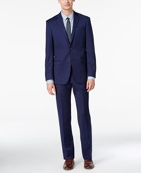 Dkny Men's Slim Fit New Blue Solid Suit