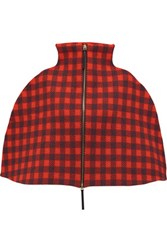 Marni Wool Blend Jacquard Cape Red
