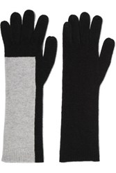 Duffy Two Tone Wool Blend Gloves Black