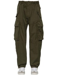 Dsquared 25.5Cm Combat Cotton Canvas Cargo Pants Army Green