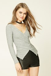 Forever 21 Plunging Surplice Front Top