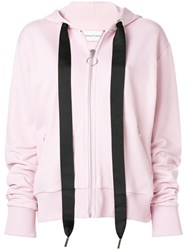Marques Almeida Marques'almeida Oversized Drawstring Zipped Hoodie Cotton Polyamide Pink Purple