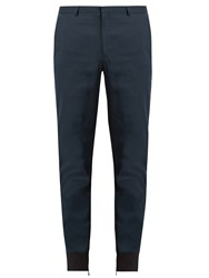 Lanvin Zipped Cuff Cotton Trousers Navy