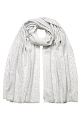 Donna Karan New York Sequined Cashmere Scarf Grey