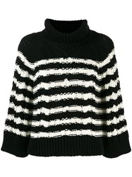 Red Valentino Cable Knit Jumper Black