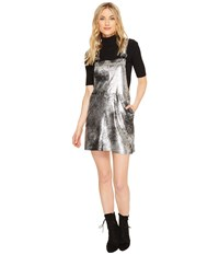 Blank Nyc Vegan Leather Overall Dress In Now Or Never Now Or Never Women's Dress Multi