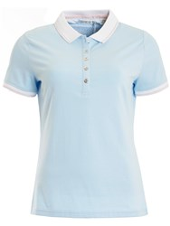 Green Lamb Patsy Jersey Club Polo Ice Blue