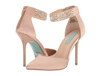 Blue By Betsey Johnson Kali Nude Satin High Heels Beige