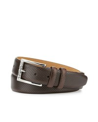 Robert Graham Martin Embossed Leather Belt Brown