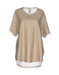 Uniqueness Topwear T Shirts Women Beige