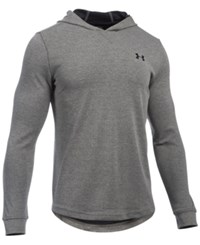 Under Armour Men's Waffle Thermal Hooded Shirt Asphalt Heather