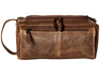 Scully Squadron Shave Kit Antique Brown Wallet