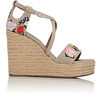 Tabitha Simmons Women's Jenny Meadow Wedge Espadrille Sandals Nude