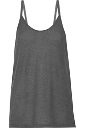 Alexander Wang Cotton Blend Jersey Camisole Gray