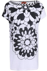 Missoni Mare Woman Printed Cotton And Linen Blend Top White