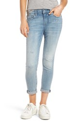 Vigoss Women's Thompson Ripped Crop Tomboy Jeans Light Wash