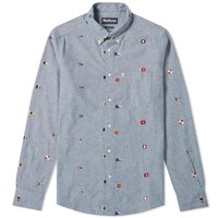 Barbour Chambray Flag Shirt Blue