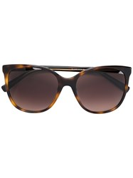 Tommy Hilfiger Oversized Sunglasses Plastic Brown