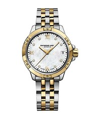Raymond Weil Tango Diamond Mother Of Pearl Dial Bracelet Watch Two Tone