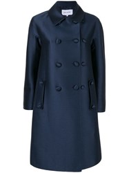 Dice Kayek Double Breasted Coat Blue